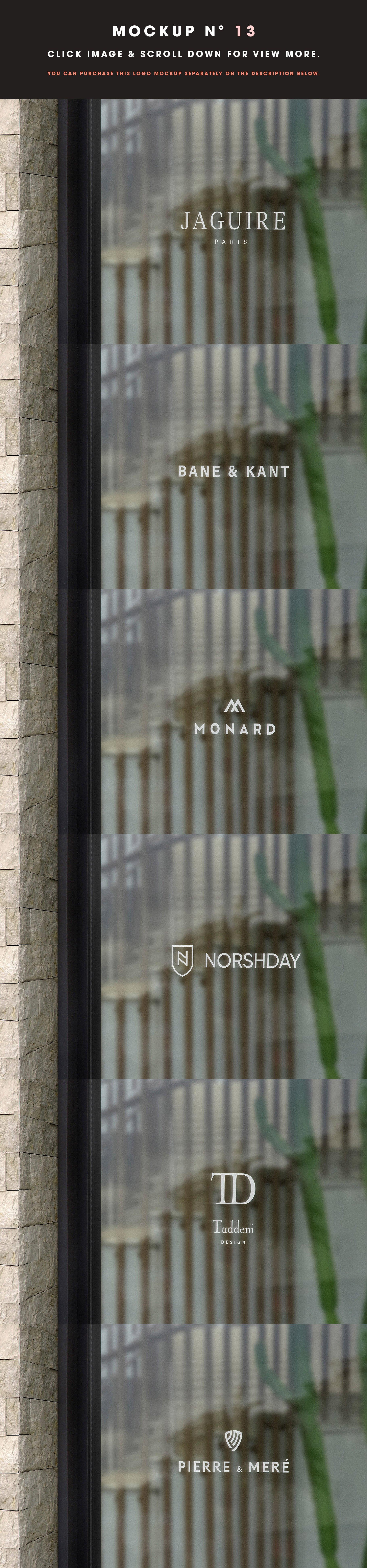 [单独购买] 25款街头门店玻璃窗户徽标标牌Logo设计展示样机模板合集 25 Window Signs Logo Mockups – V2插图15