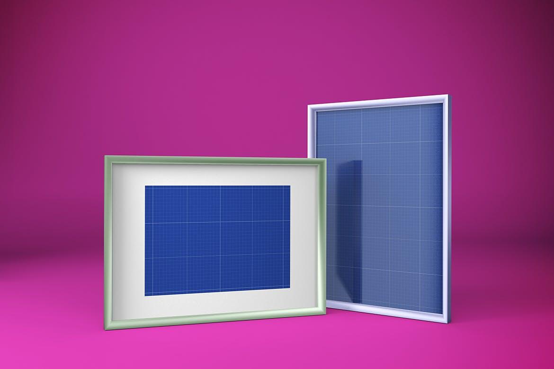 多角度艺术品相片展示相框样机模板 Frame Mockup插图12