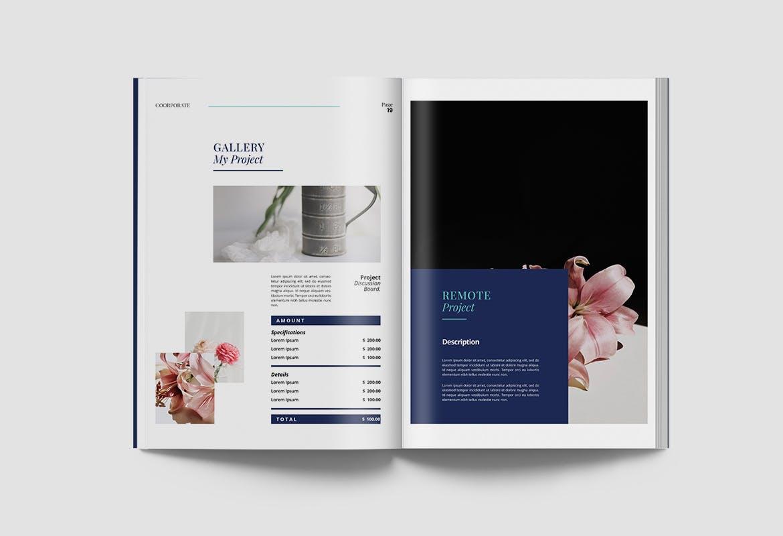 现代优雅企业年度报告书设计INDD画册模板 Corporate Report插图10