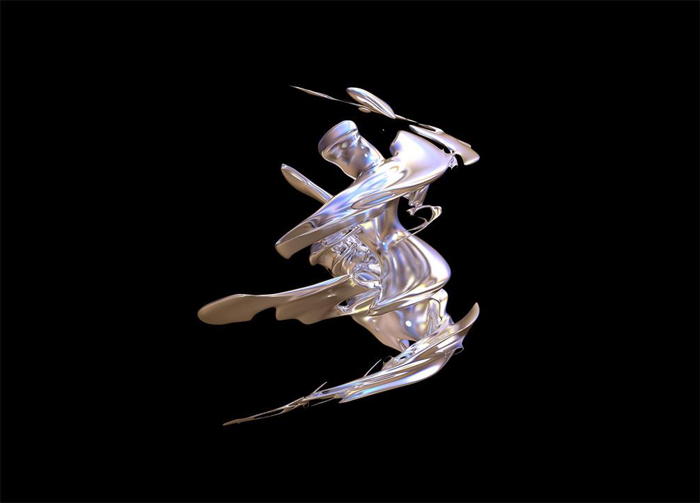 [单独购买] 50款潮流抽象金属镀铬有机形状PNG免扣图片设计素材 Edgargfx – Organic Chrome 3D插图11