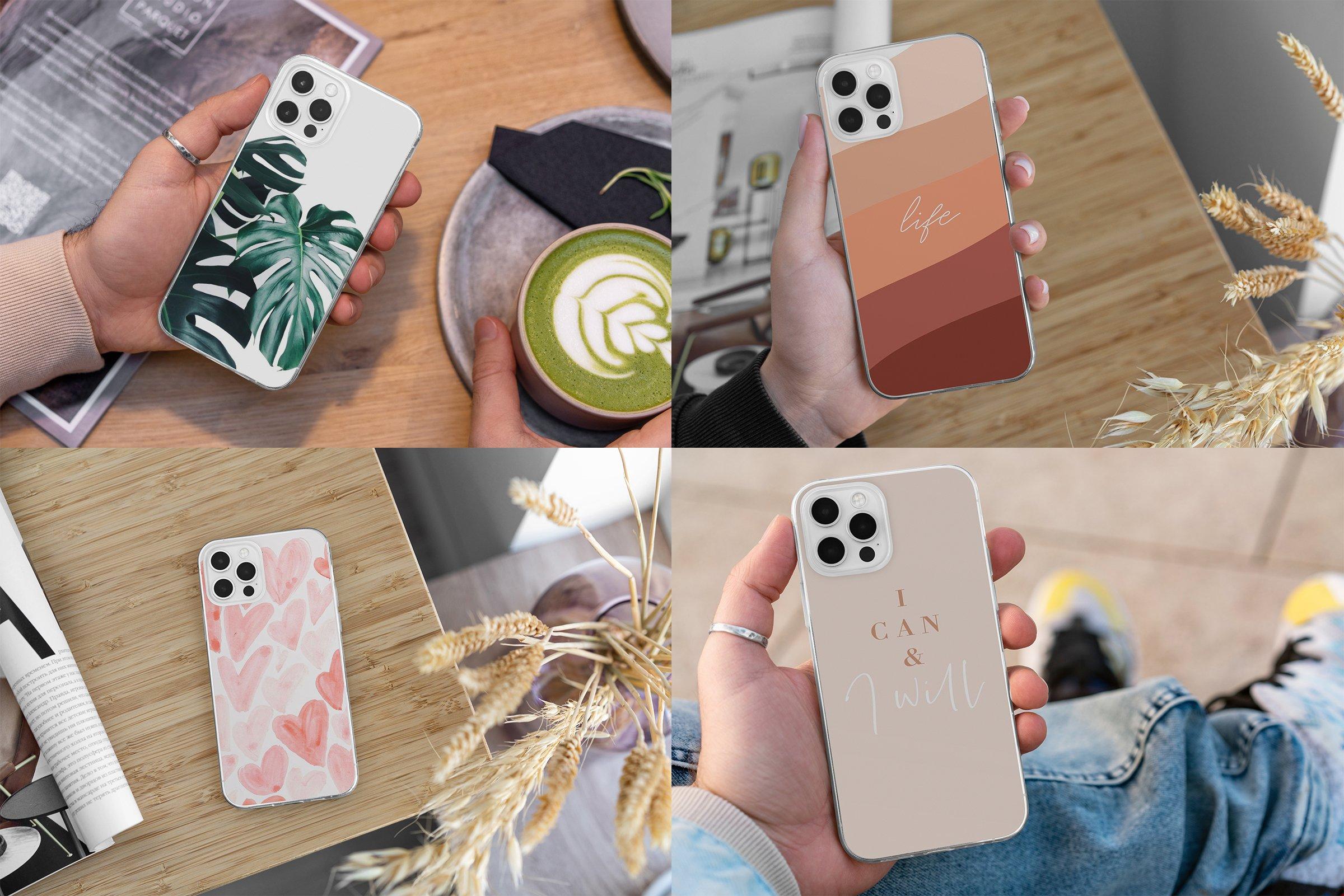 15款时尚苹果iPhone 12手机保护壳设计PS智能贴图样机模板 iPhone 12 Clear Case MockUp Vol.2插图7