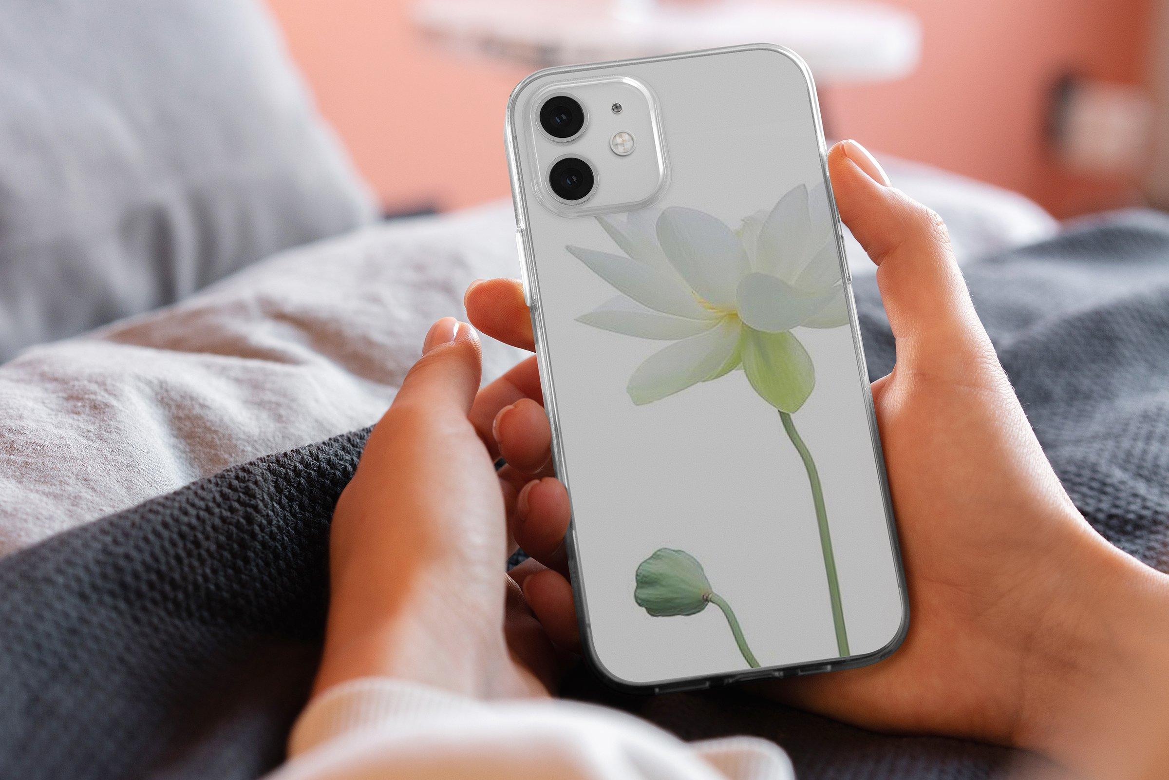 15款时尚苹果iPhone 12手机保护壳设计PS智能贴图样机模板 iPhone 12 Clear Case MockUp Vol.2插图5