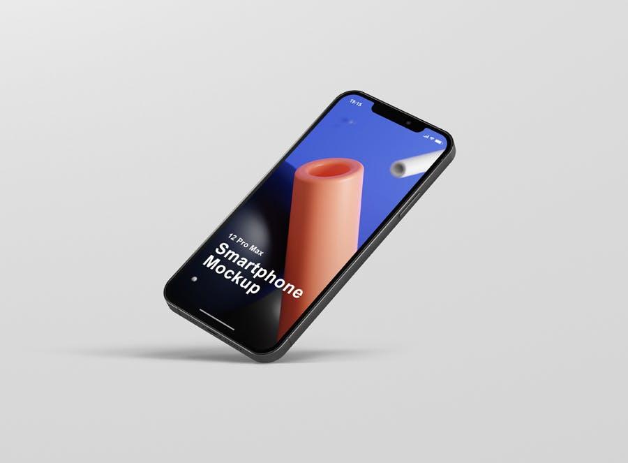 时尚APP界面设计iPhone 12 Pro Max手机屏幕演示样机 Phone 12 Pro Max Mockup插图12