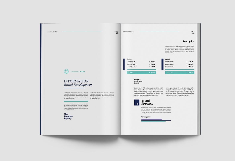 现代优雅企业年度报告书设计INDD画册模板 Corporate Report插图11