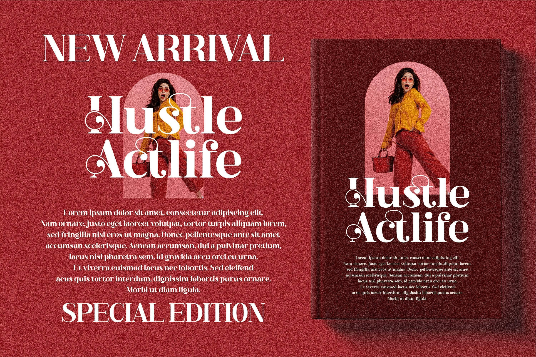 现代奢华品牌徽标Logo海报标题衬线英文字体下载 Hustle Actlife Font插图13