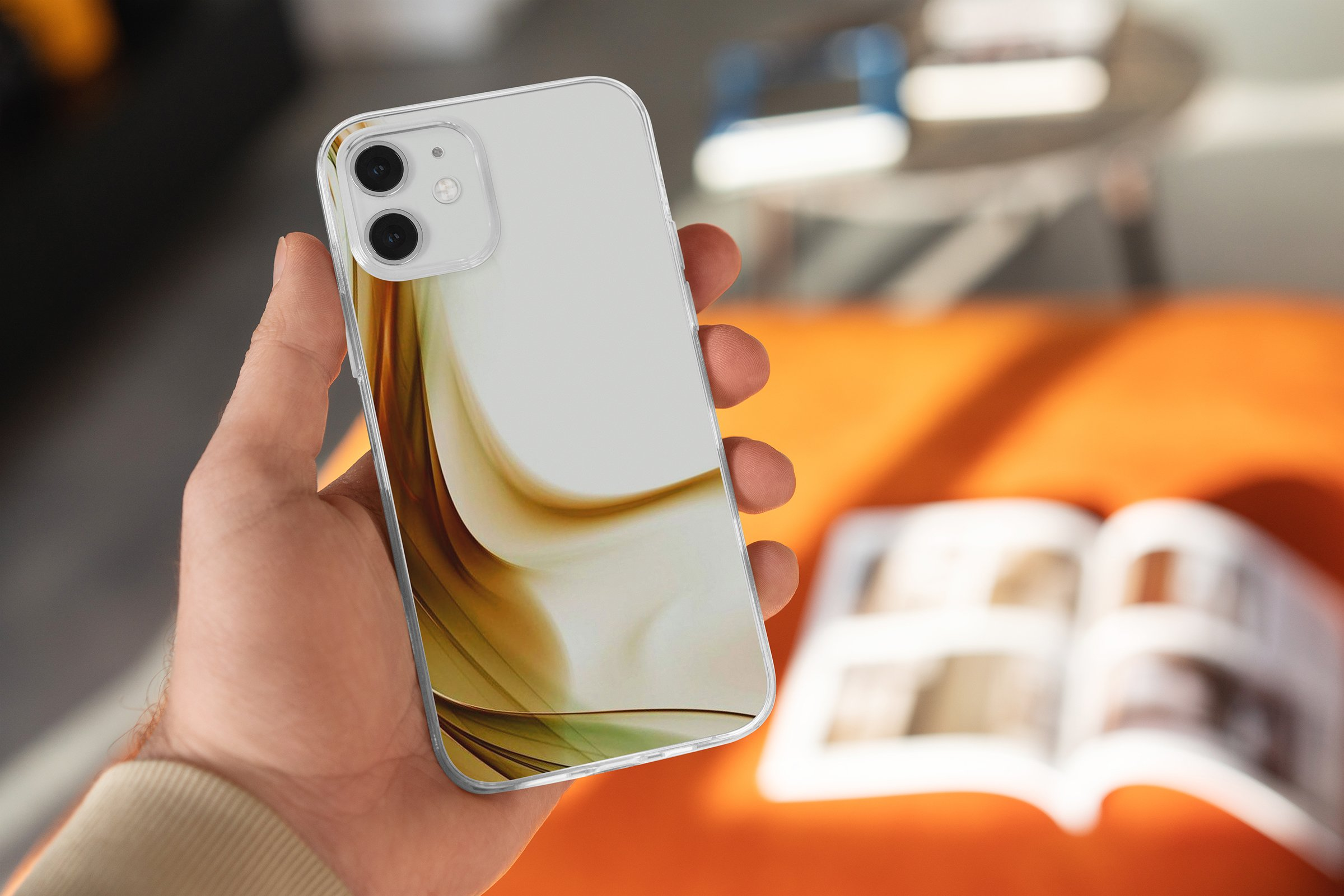 15款时尚苹果iPhone 12手机保护壳设计PS智能贴图样机模板 iPhone 12 Clear Case MockUp Vol.2插图6