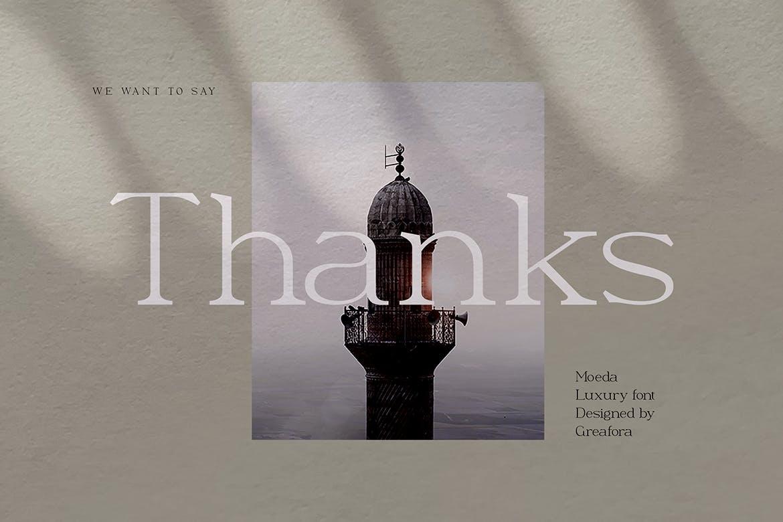 优雅轻奢现代时尚Logo杂志海报标题衬线英文字体素材 Moeda – Luxury Serif Font插图13