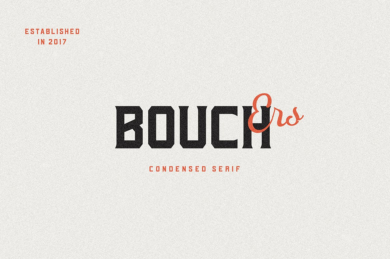 现代复古海报画册杂志Logo标题无衬线英文字体素材 Bouchers Type Collection插图5