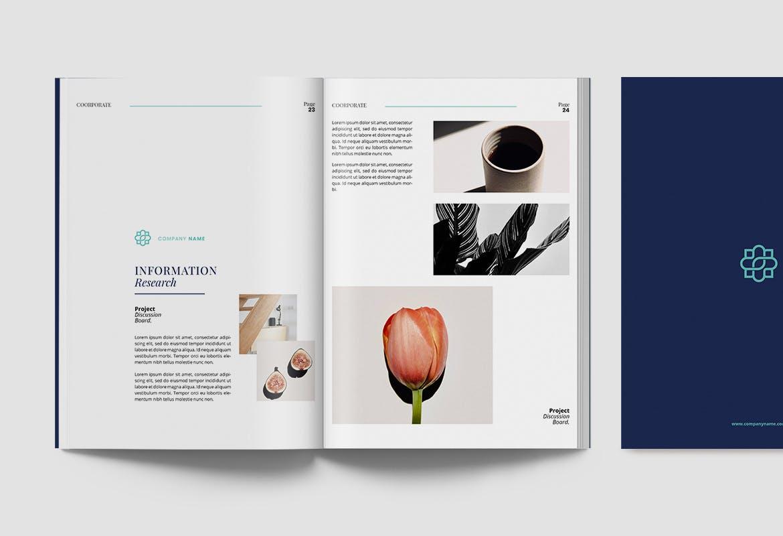 现代优雅企业年度报告书设计INDD画册模板 Corporate Report插图12