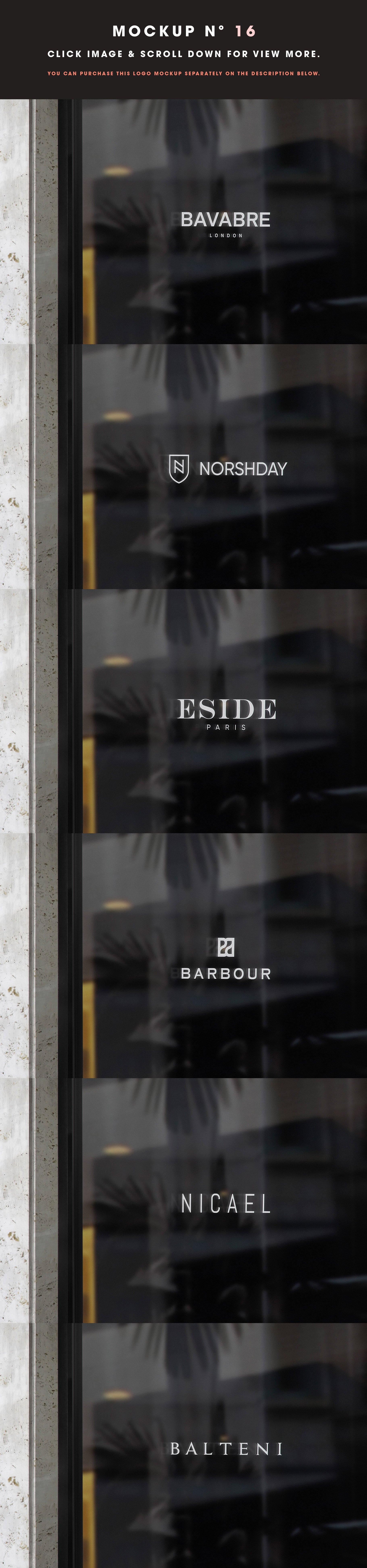 [单独购买] 25款街头门店玻璃窗户徽标标牌Logo设计展示样机模板合集 25 Window Signs Logo Mockups – V2插图18