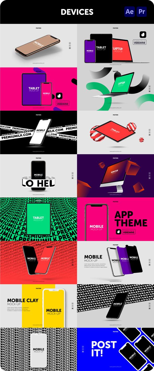 时尚潮流文字排版广告宣传海报包装动画预设AE+PR脚本素材 Videohive – Posters Pack V.7插图16