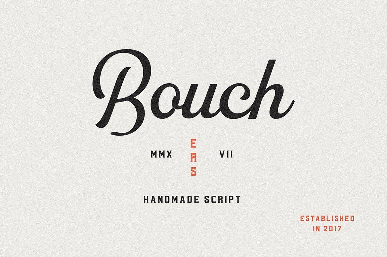 现代复古海报画册杂志Logo标题无衬线英文字体素材 Bouchers Type Collection插图6