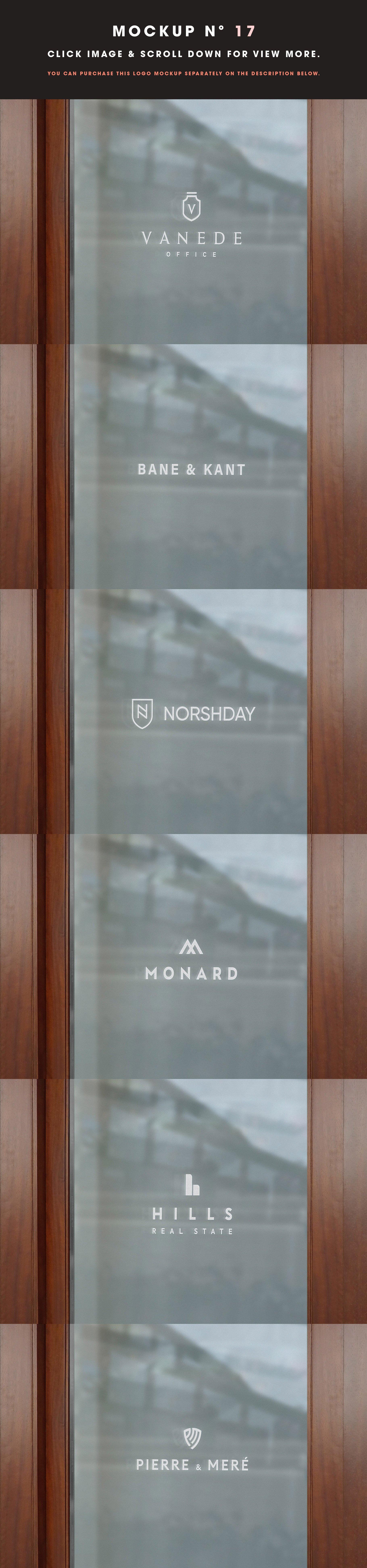 [单独购买] 25款街头门店玻璃窗户徽标标牌Logo设计展示样机模板合集 25 Window Signs Logo Mockups – V2插图19