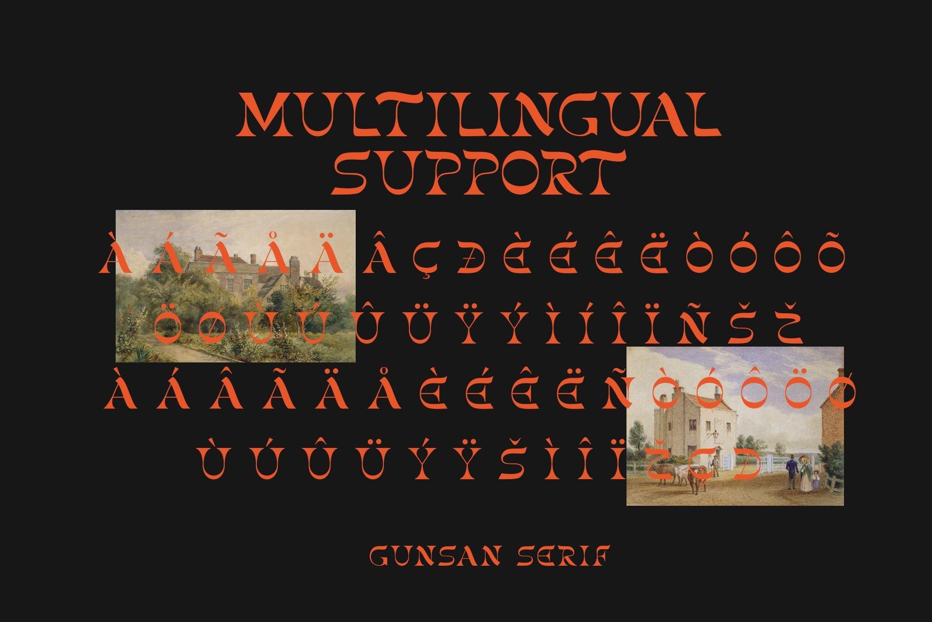 [单独购买] 潮流复古酸性艺术海报杂志Logo标题英文字体设计素材 Gunsan Font Duo插图11