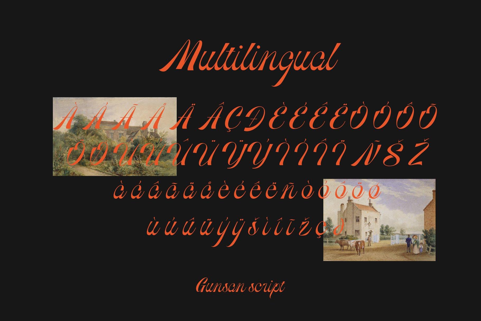 [单独购买] 潮流复古酸性艺术海报杂志Logo标题英文字体设计素材 Gunsan Font Duo插图13