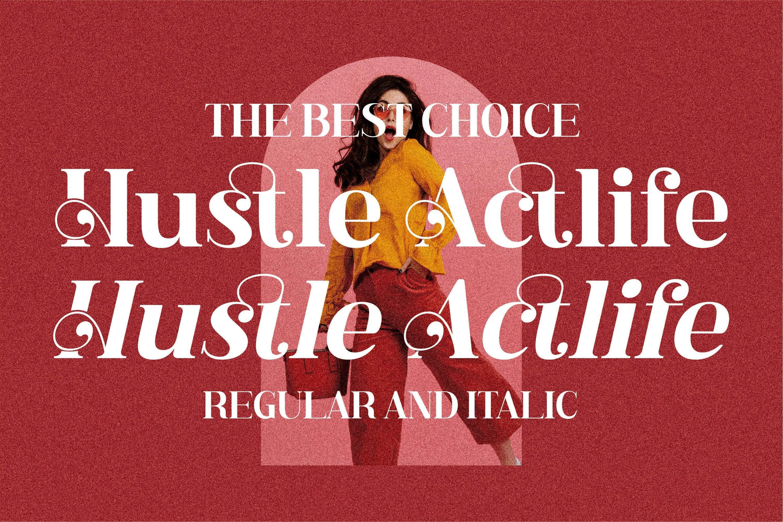 现代奢华品牌徽标Logo海报标题衬线英文字体下载 Hustle Actlife Font插图17