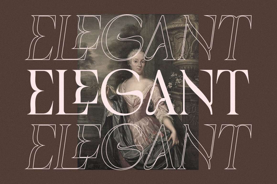 现代优雅品牌徽标Logo海报标题设计衬线英文字体素材 Chemre Font插图17
