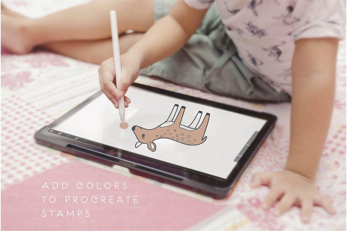 300个点状颗粒花卉动物心形艺术绘画iPad Procreate笔刷字体套装 Procreate Brushes & Font Bundle插图17