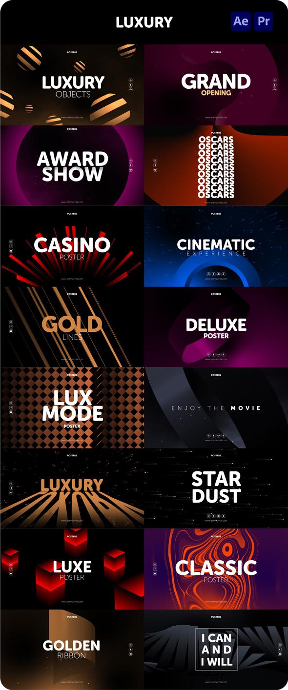 时尚潮流文字排版广告宣传海报包装动画预设AE+PR脚本素材 Videohive – Posters Pack V.7插图18