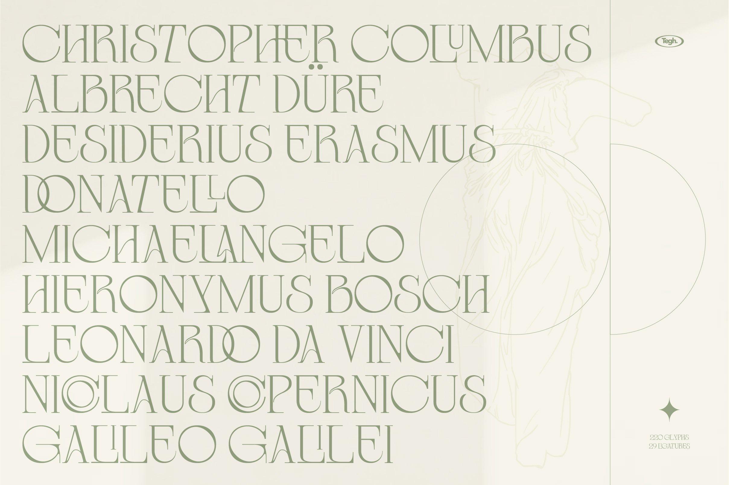 优雅复古杂志海报标题徽标Logo设计衬线英文字体素材 Coolumbus Modern Serif Font插图1