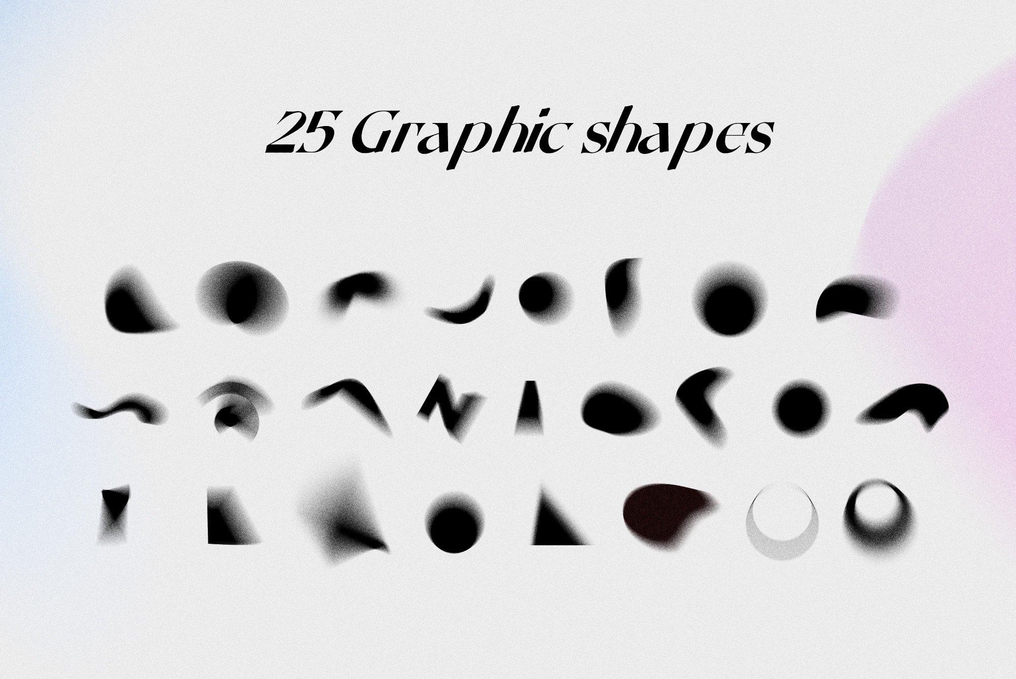 [单独购买] 潮流复古炫彩颗粒噪点模糊渐变背景纹理图形设计素材 Gradient Color Grainy Textures插图1