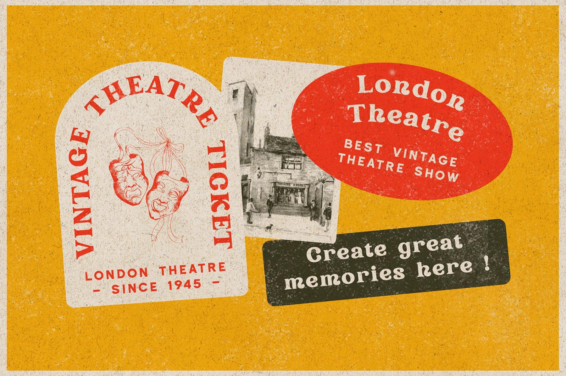 精美复古海报标题徽标Logo设计衬线英文字体素材 Rundeck – Vintage Texture Font插图1