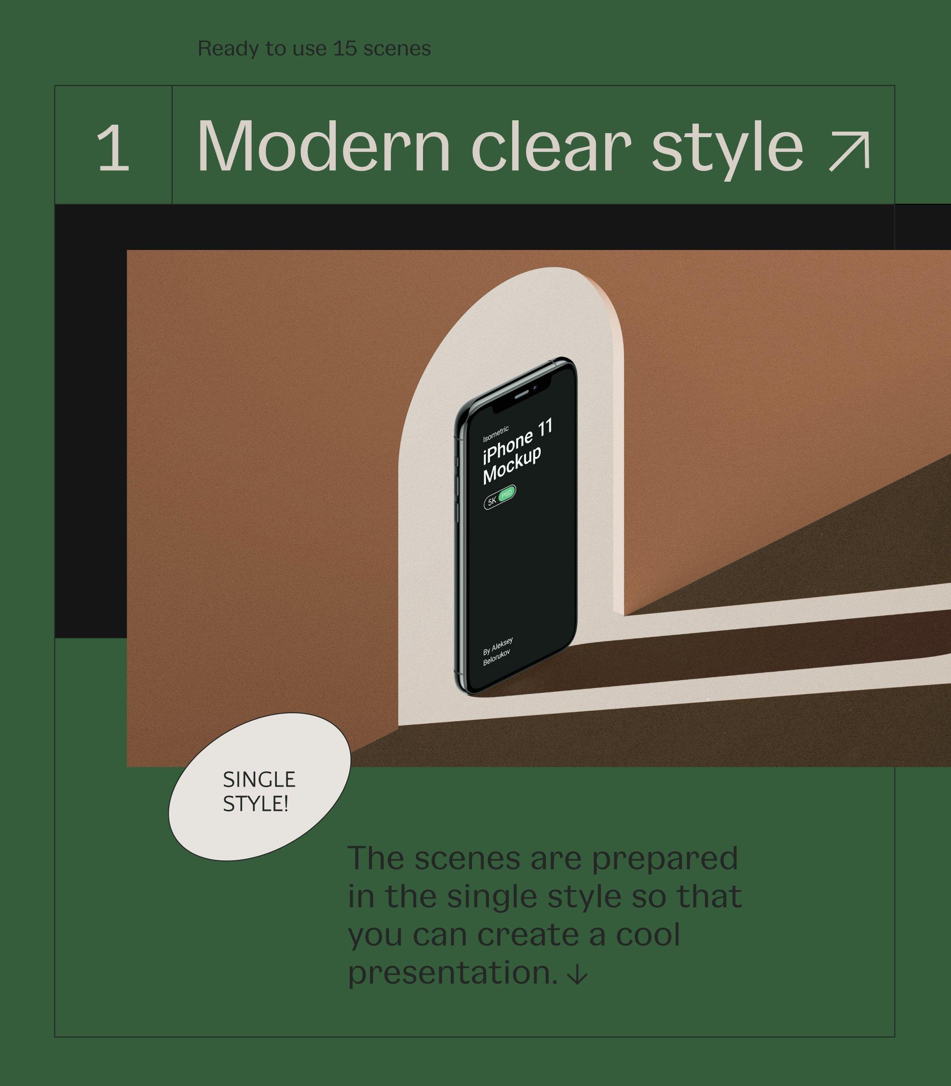 [单独购买] 16款时尚等距APP界面设计苹果设备屏幕演示场景样机模板套装 Device Pack Mockups – Isometric插图2