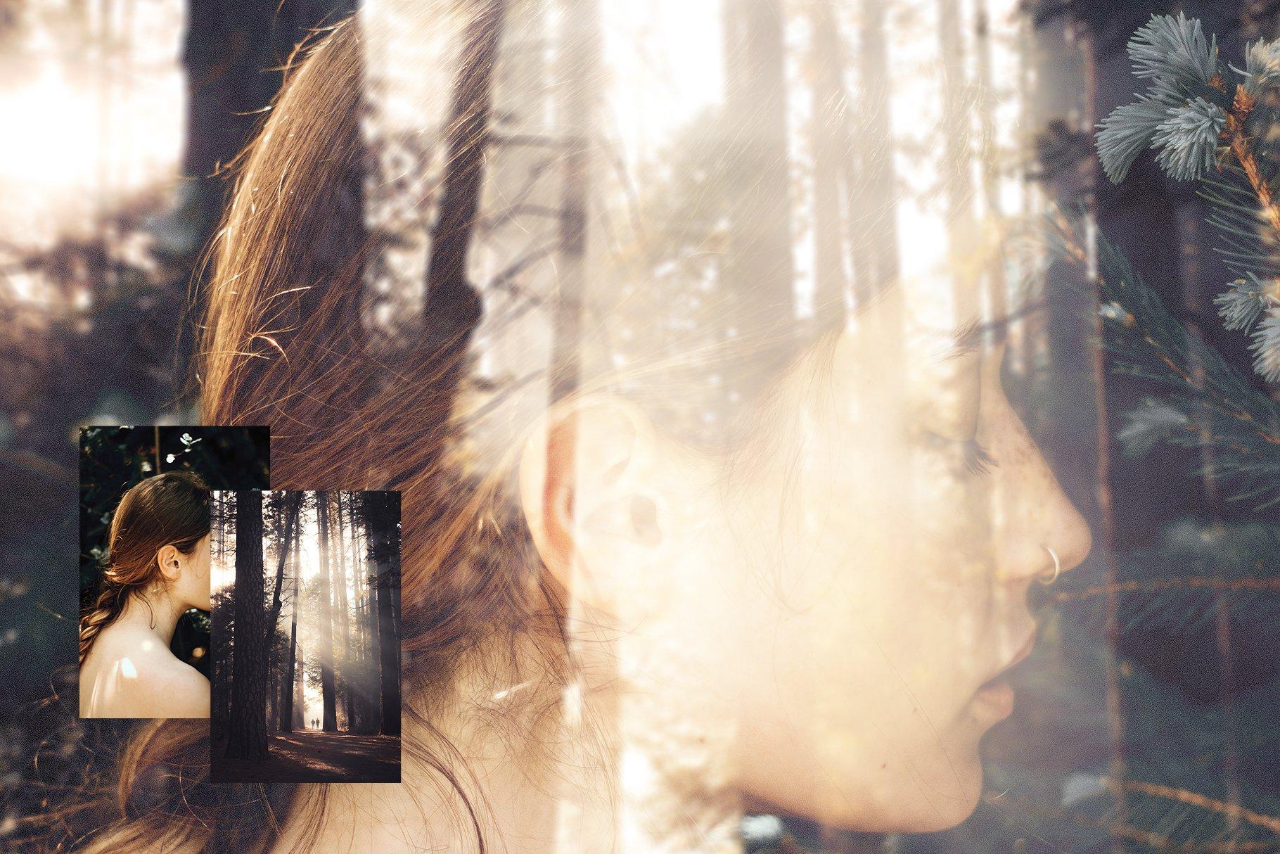 潮流模糊镜面玻璃反射效果图层叠加PS设计素材 Reflex – Custom Glass Reflection插图1