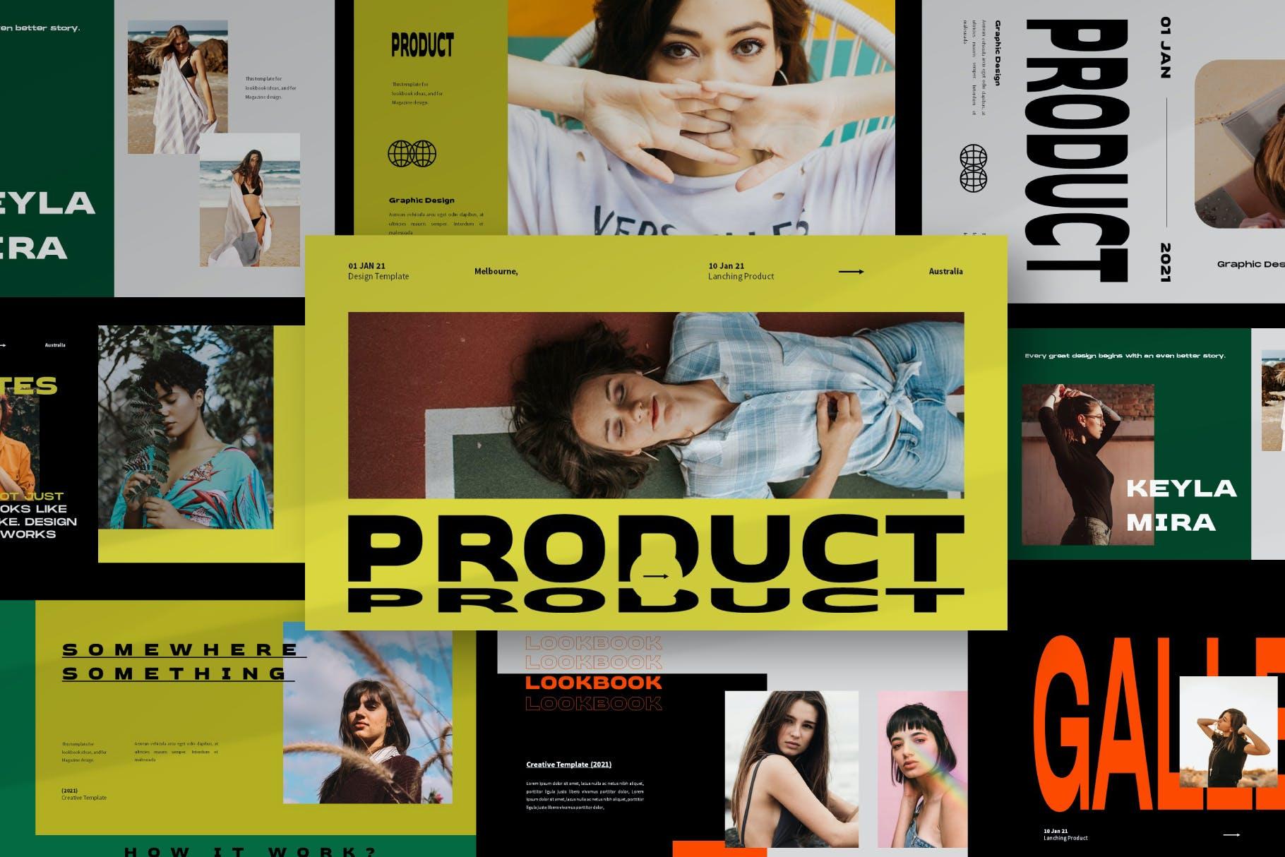 时尚潮流品牌策划案提案简报设计演示文稿模板 Brooke Powerpoint Template插图1