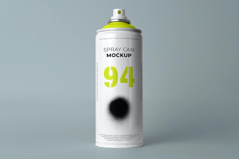 简约喷雾瓶外观设计样机模板 Aerosol Can Mockup插图2