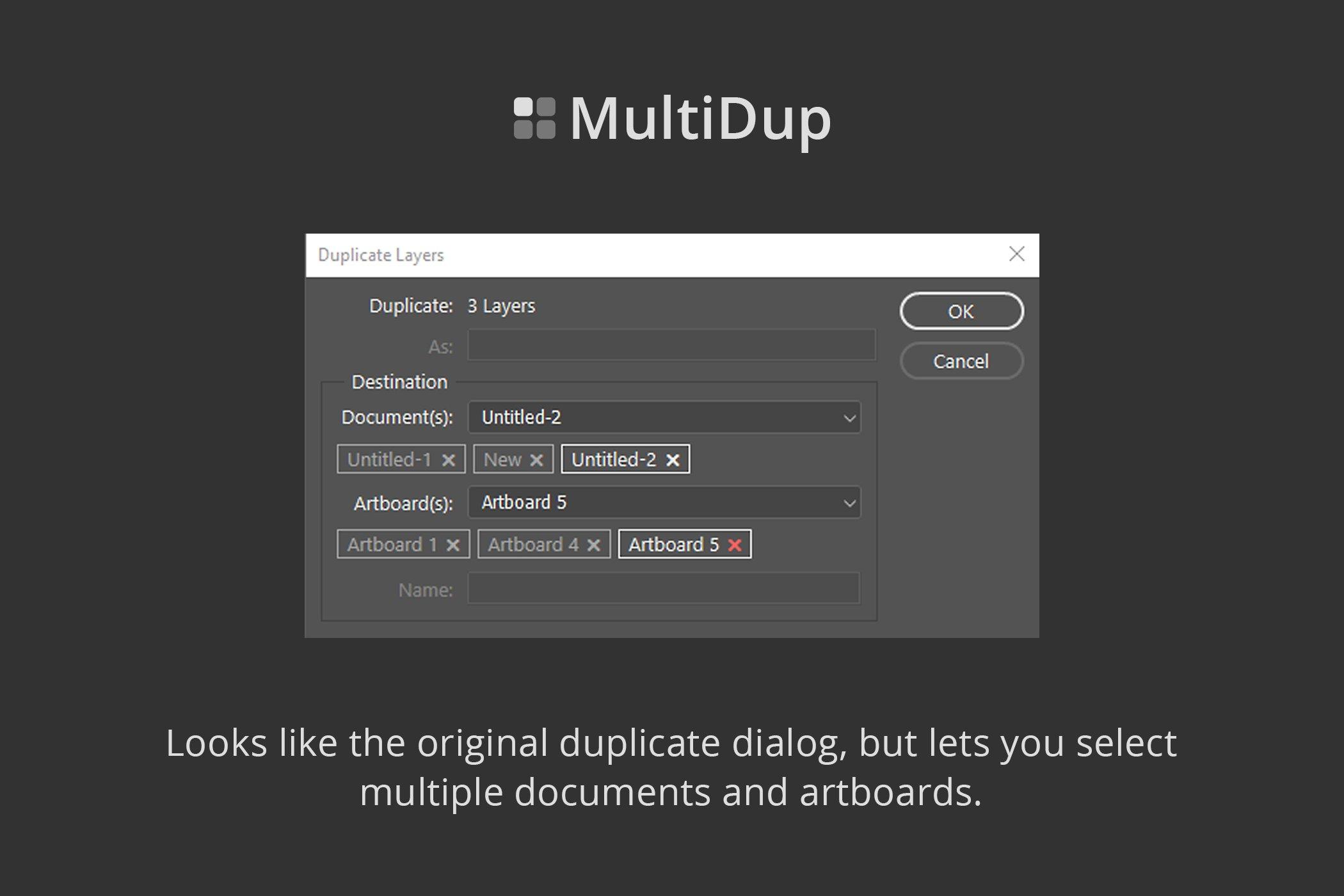 一键批量复制图层处理特效PS插件素材 MultiDup – Batch Duplication In PS插图2
