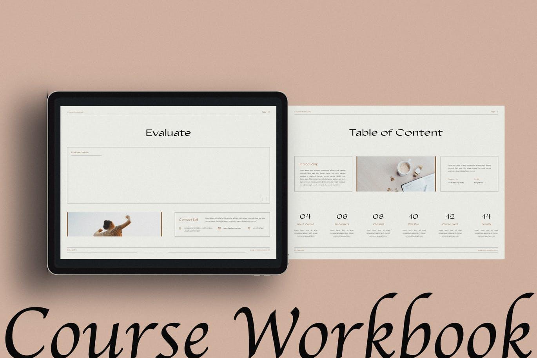 16页课程工作簿手册设计INDD模板素材 The Course Workbook  Minimal插图1