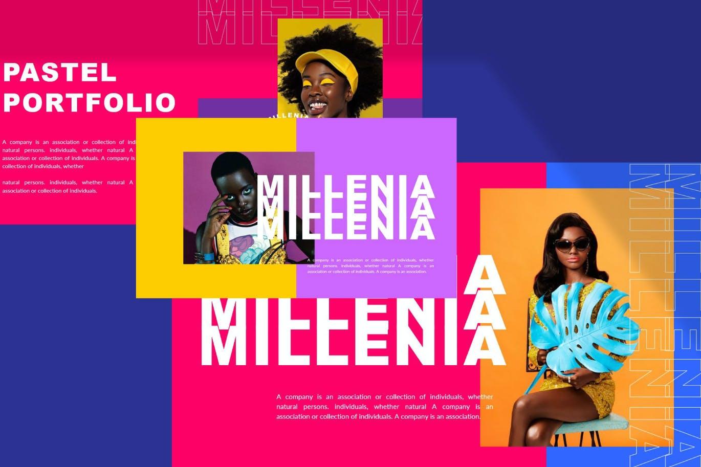 时尚炫彩品牌策划提案简报作品集设计PPT+Keynote模板 Millenia – Fashion PowerPoint Template插图7