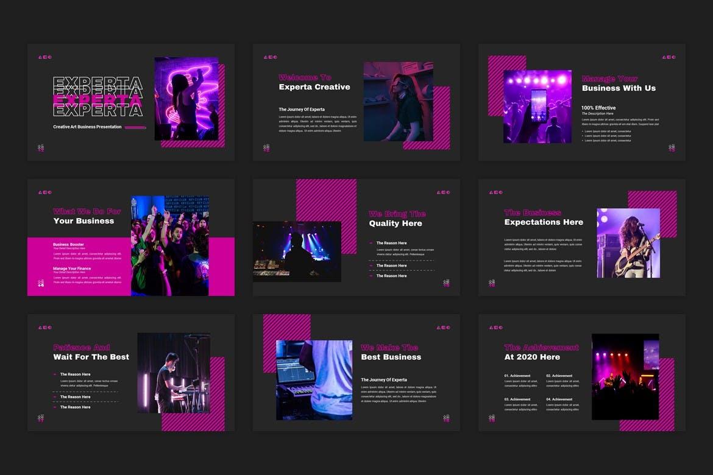 创意霓虹灯效果商业策划演示文稿设计Keynote模板 Experta – Creative Business Keynote Template插图1