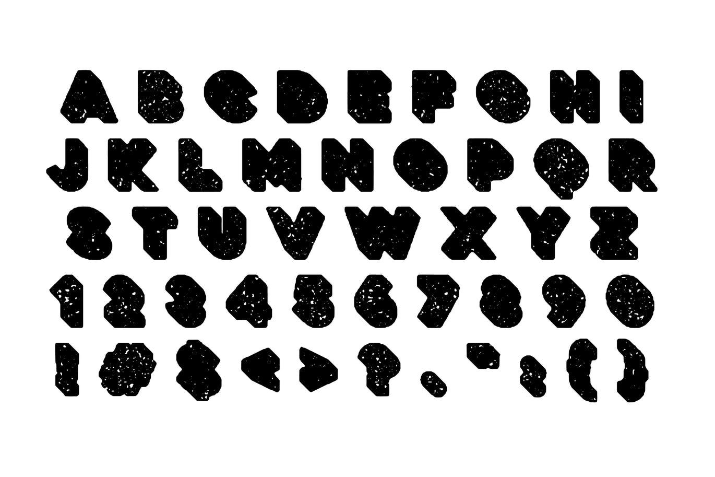 粗壮标题Logo设计无衬线英文字体下载 Deep Block – Distressed Display Font插图1