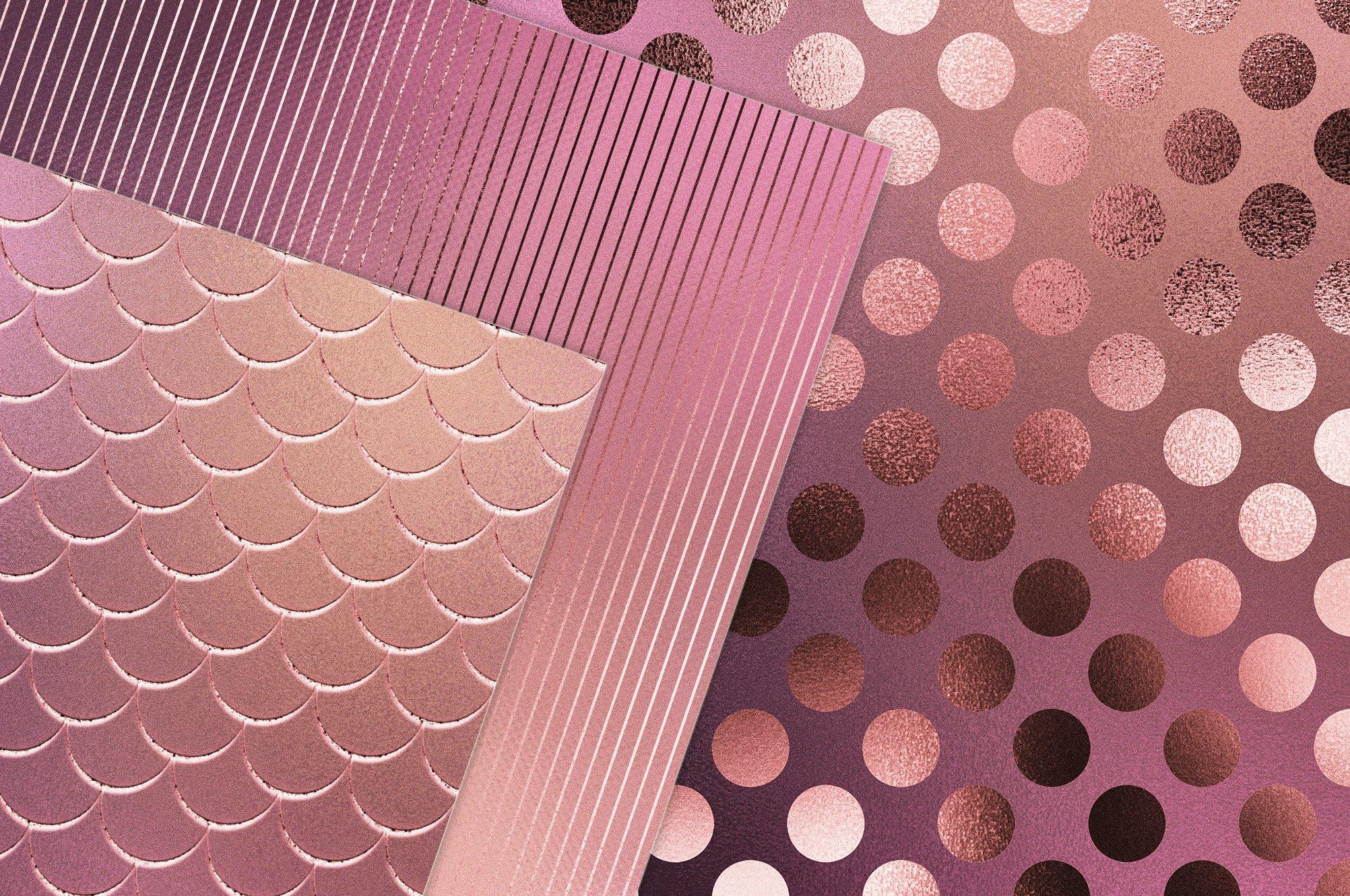 20款高清粉红色箔纸纹理海报设计背景图片素材 Iridescent Gold Pink Textures插图1