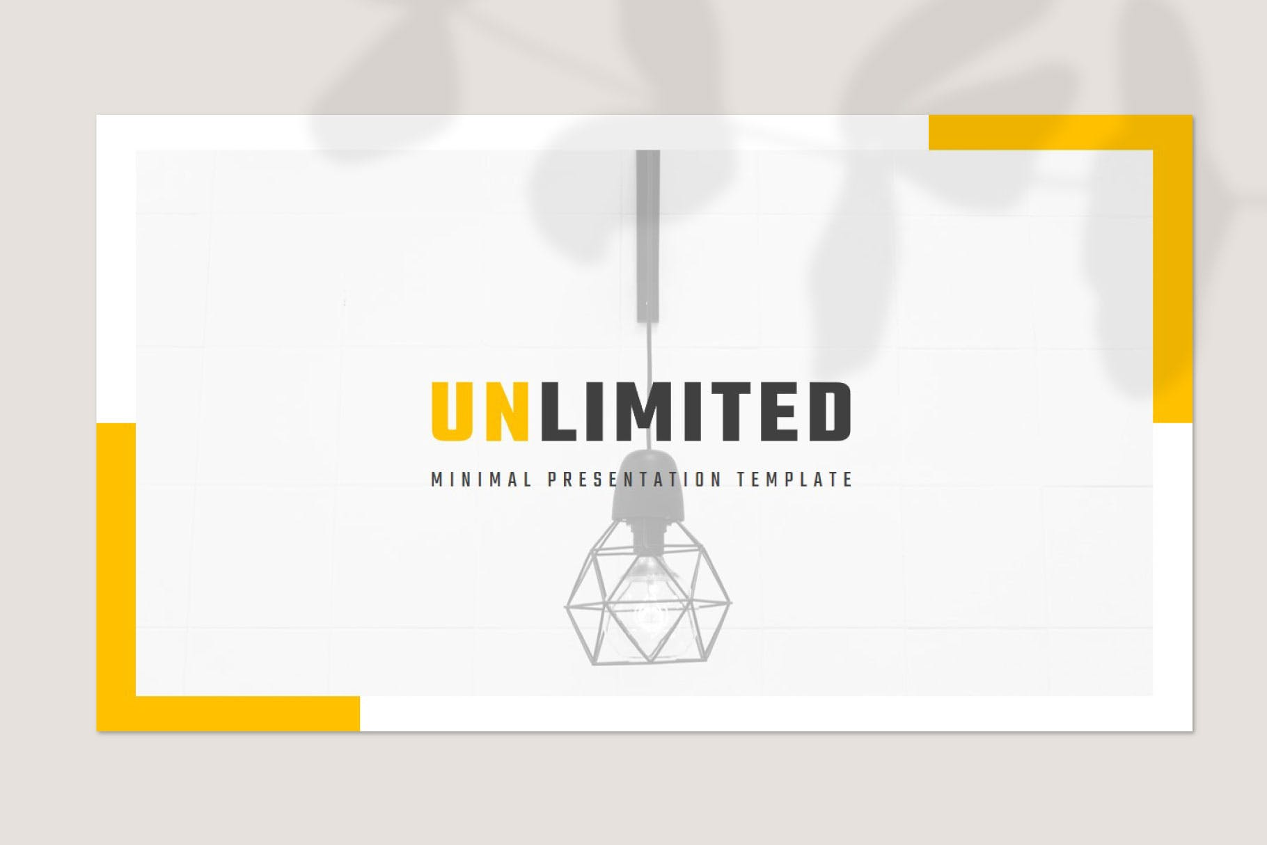 现代简约商务策划提报演示文稿幻灯片设计模版 UNLIMITED Powerpoint Template插图1