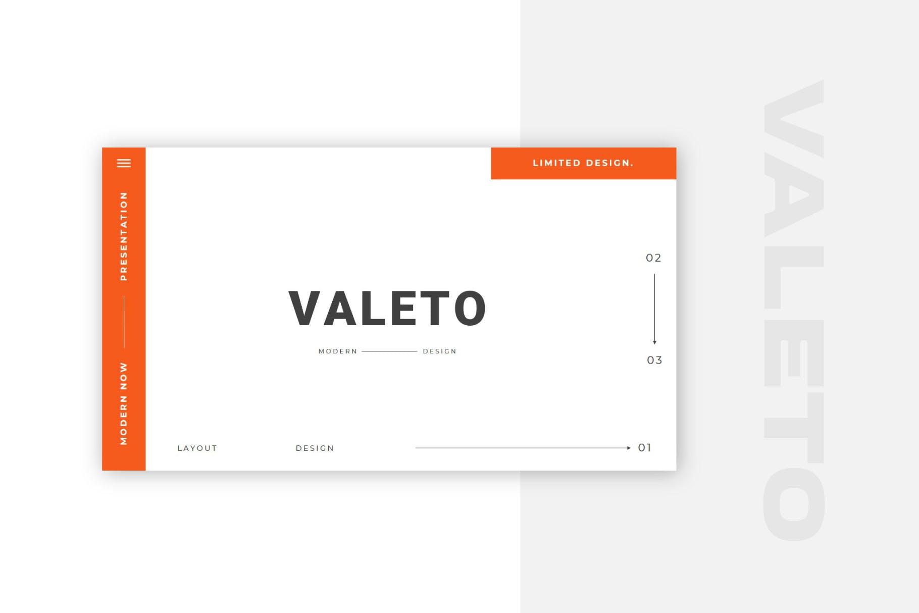 极简主义企业营销策划演示文稿设计模板 Valeto Powerpoint Template插图1