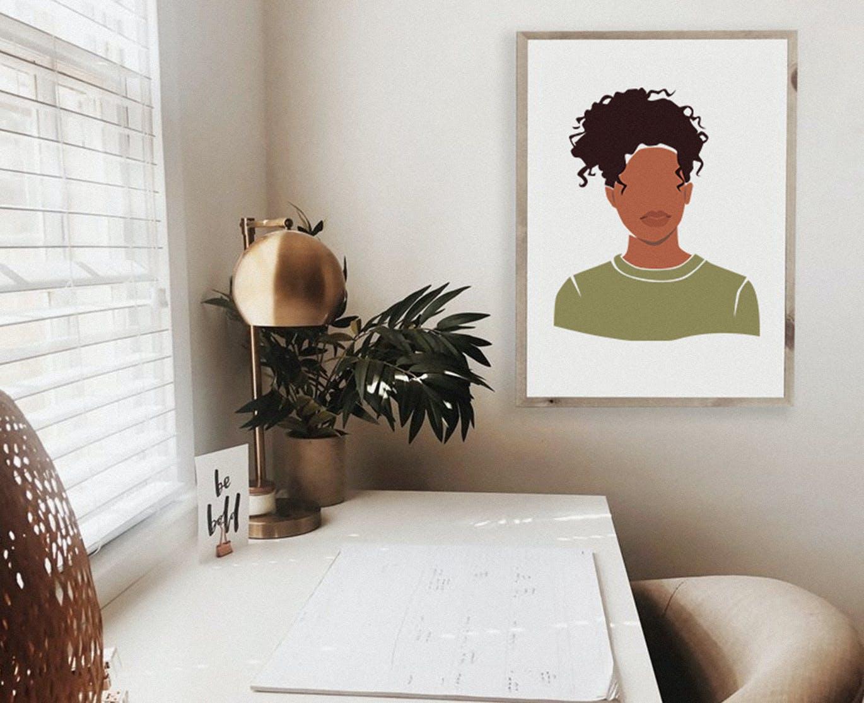 精美抽象女性脸部肖像手绘矢量图形素材 Multinational Abstract Women Portraits插图1