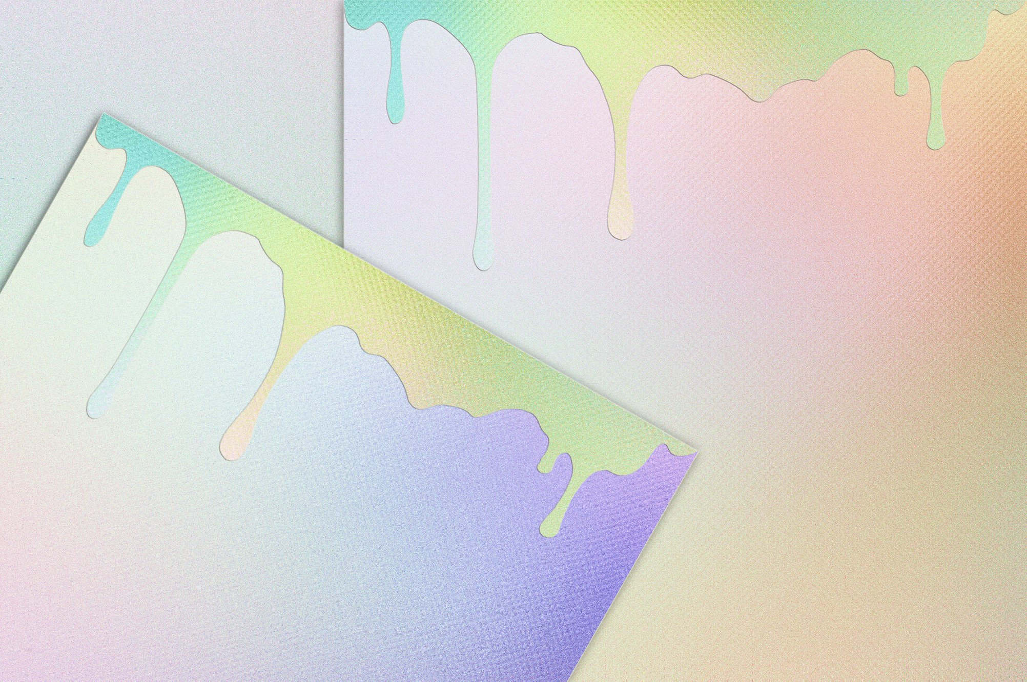 20款高清水滴虹彩海报设计背景纹理图片素材 Dripping Iridescent Textures插图1