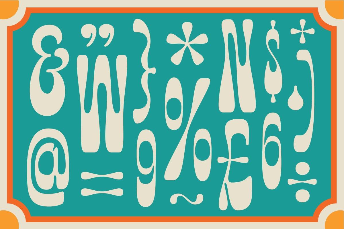 有趣卡通海报品牌包装标题Logo粗体英文字体素材 Fuente Wonkids Bold & Chunky插图1