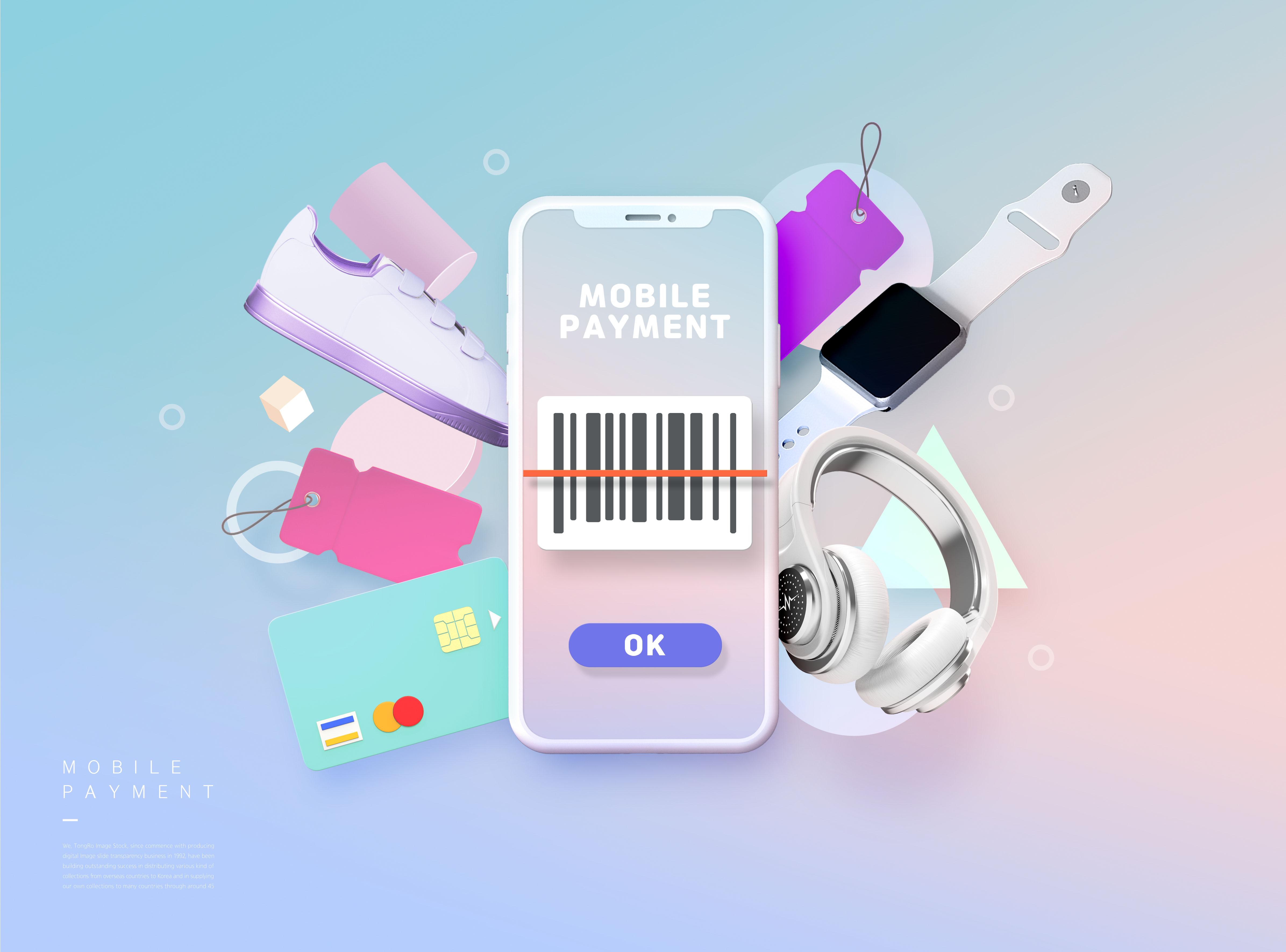 [单独购买] 14款时尚卡通手机购物促销电商海报设计PSD模板素材 Cartoon Shopping Poster插图4
