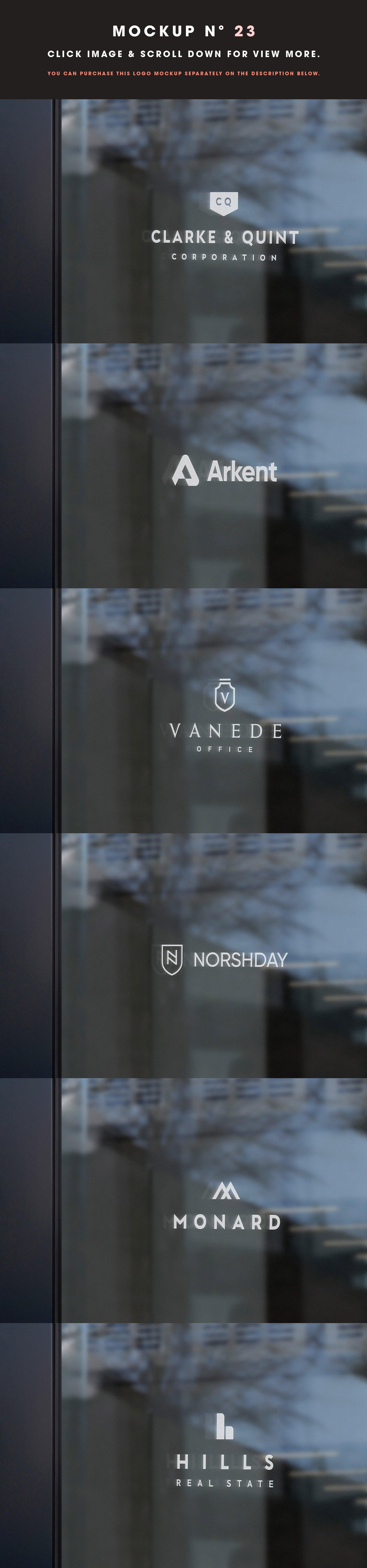 [单独购买] 25款街头门店玻璃窗户徽标标牌Logo设计展示样机模板合集 25 Window Signs Logo Mockups – V2插图25
