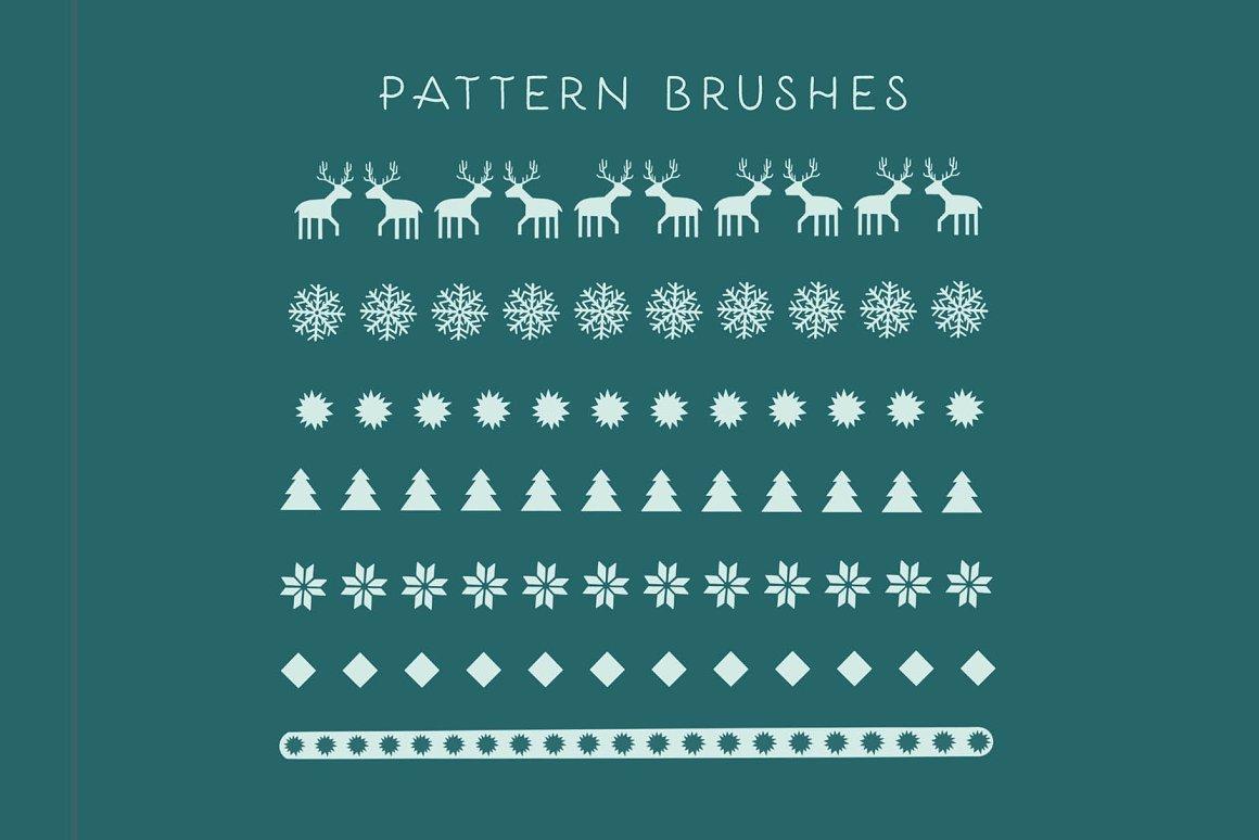 300个点状颗粒花卉动物心形艺术绘画iPad Procreate笔刷字体套装 Procreate Brushes & Font Bundle插图22