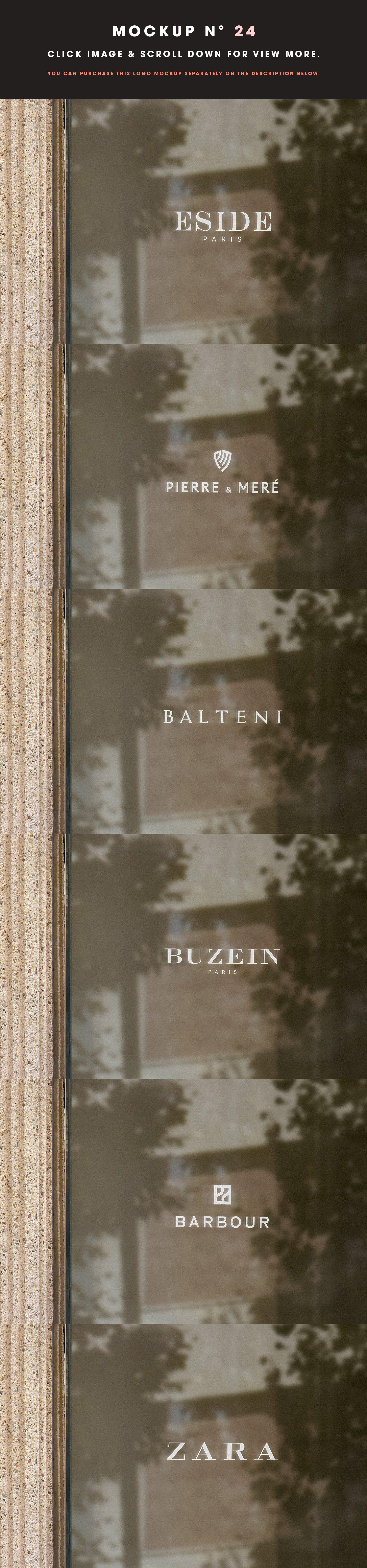 [单独购买] 25款街头门店玻璃窗户徽标标牌Logo设计展示样机模板合集 25 Window Signs Logo Mockups – V2插图26