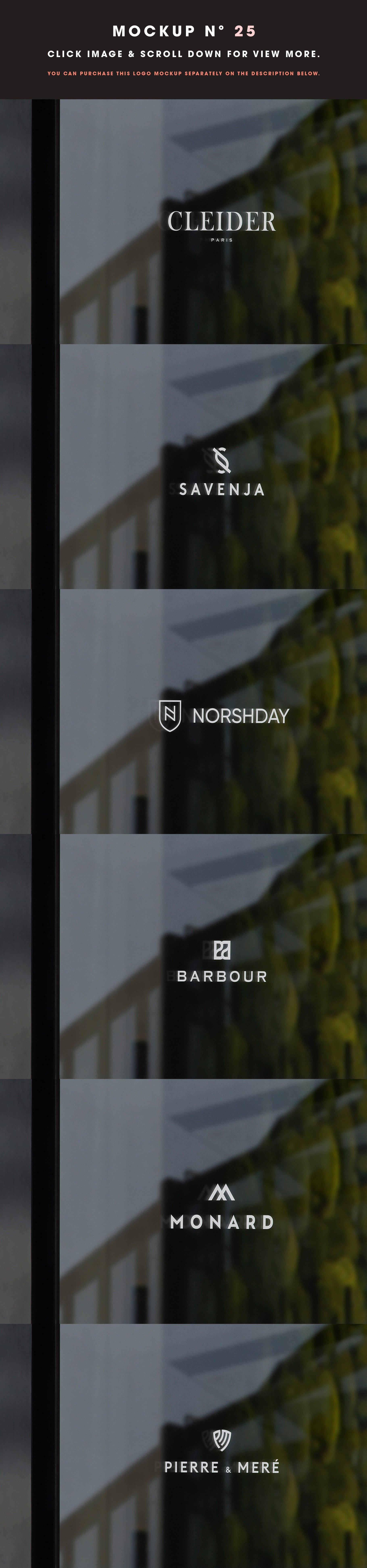 [单独购买] 25款街头门店玻璃窗户徽标标牌Logo设计展示样机模板合集 25 Window Signs Logo Mockups – V2插图27