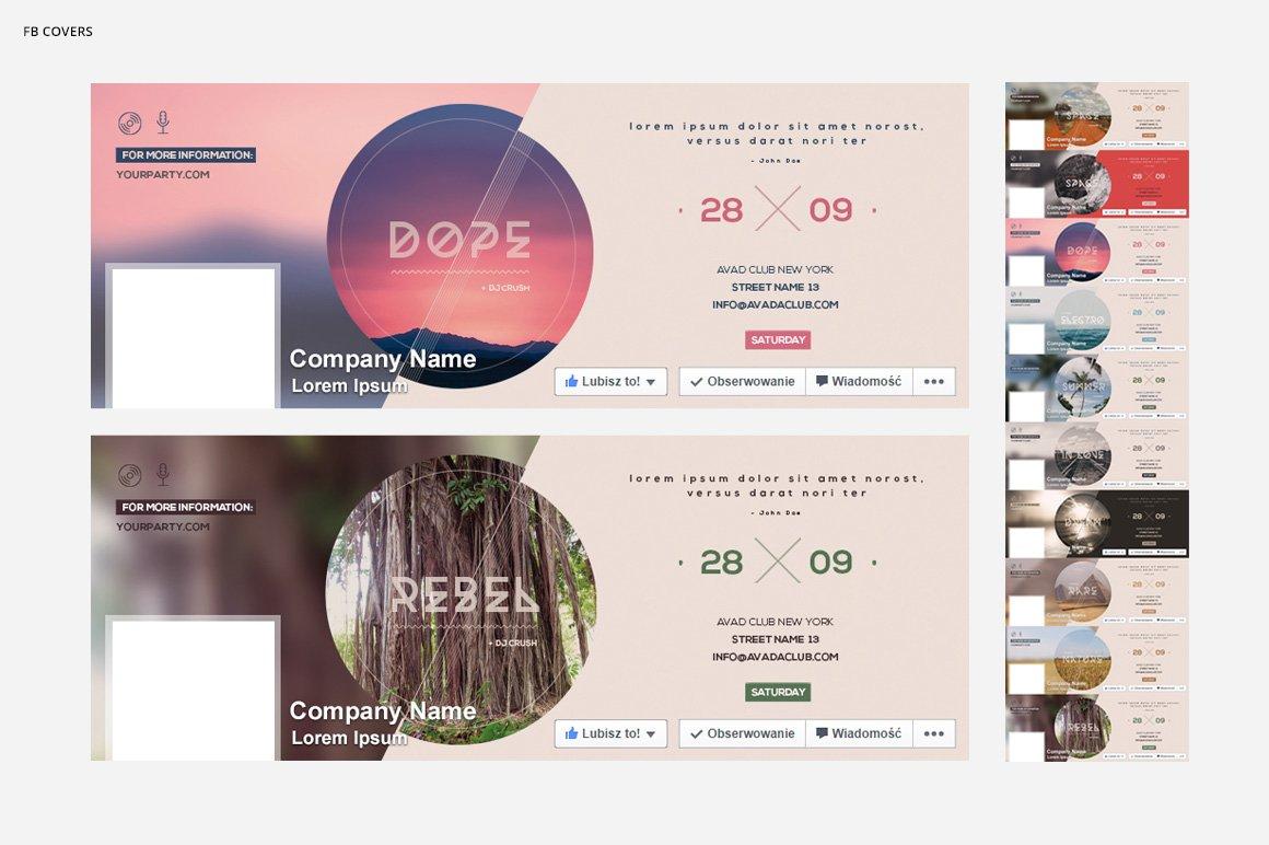10款简约自然风景海报设计PSD模板素材 10 Minimalistic Nature Posters插图2