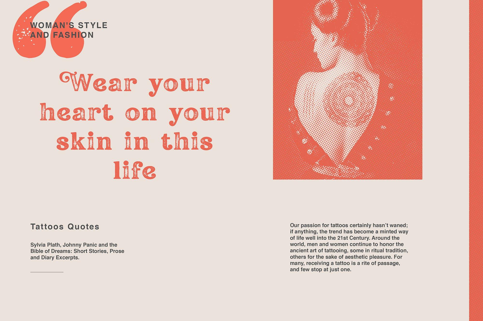 现代经典杂志海报标题Logo设计衬线英文字体下载 Hallen Font插图2