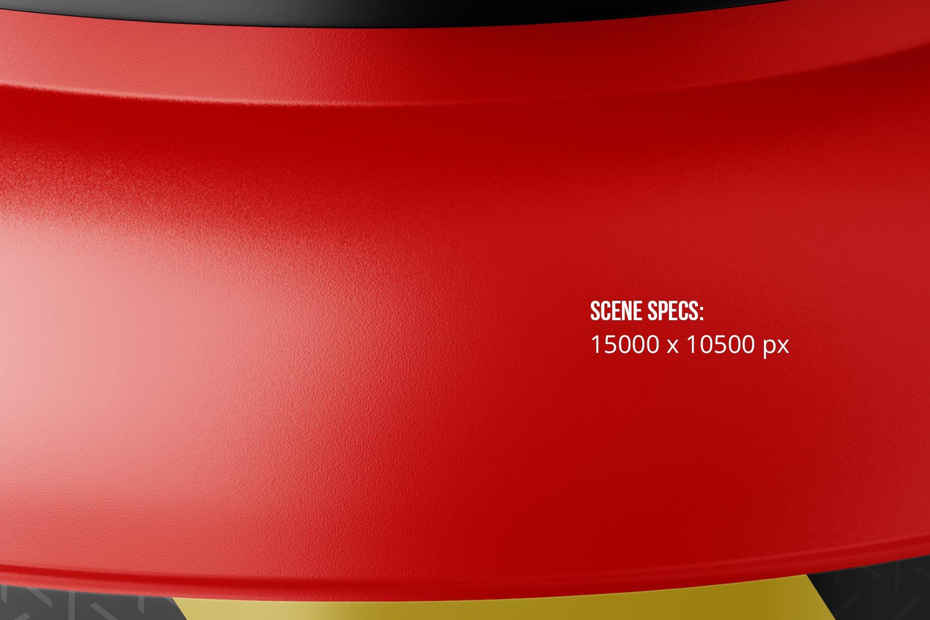运动营养品果酱塑料罐标签设计展示样机模板 Sport Nutrition Plastic Jar Mockup插图2