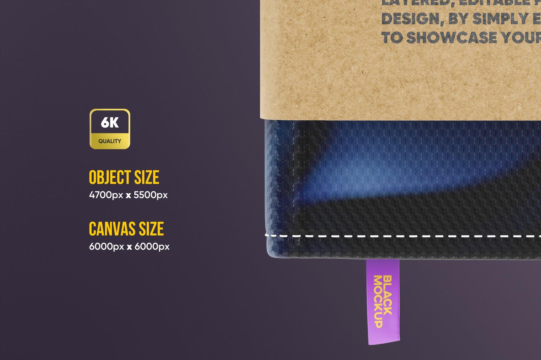 8款办公用品笔记本记事本设计PSD样机模板 Notebook In Craft Packaging Mockup插图2